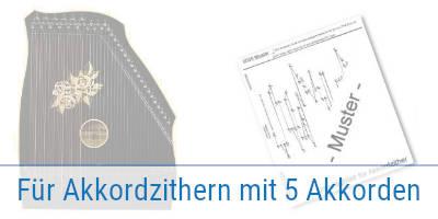 Internationale Folklore  Akkordzither Unterlegnoten 10 Stück   Zither Noten