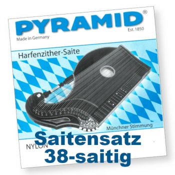 Pyramid 604/38 Harfenzither Nylon 38-saitig