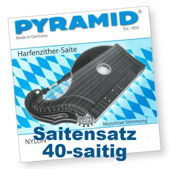 Pyramid 604/40 Harfenzither Nylon 40-saitig