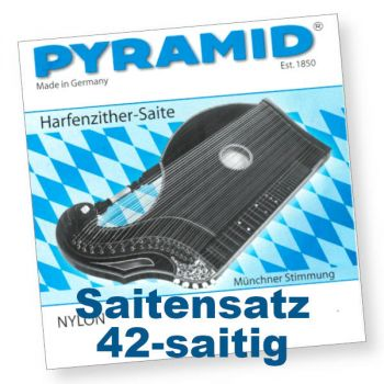 Pyramid 604/42 Harfenzither Nylon 42-saitig